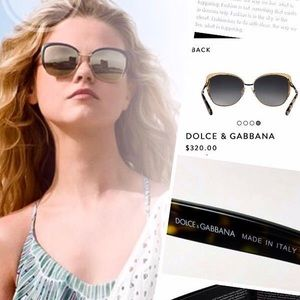 D&G⚡️Authentic Butterfly Mirror Lens Sunglasses